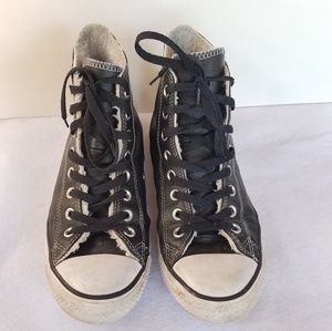 Converse  Chuck Taylor High Top Leather Sneakers